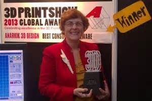 Winning 'Best Consumer Software' at the 2013 3D Print Show.